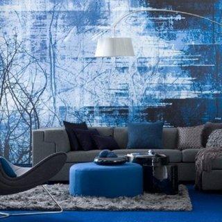 Interior cu predominanta de nuante de albastru