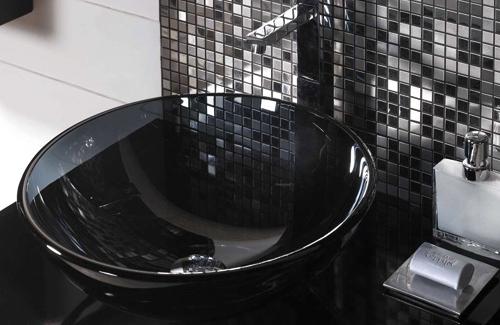 Chiuveta de baie din sticla neagra