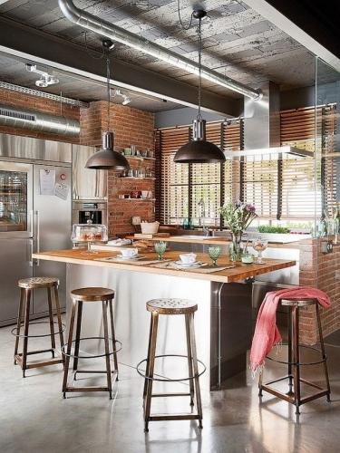 Caramida expusa mix de contemporan rustic si industrial