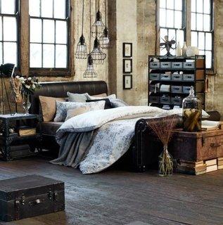 Dormitor in stil rustic industrial