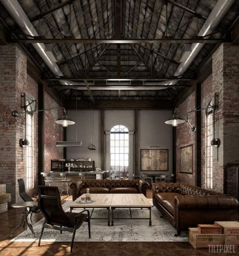 Interior amenajat artistic cu canapele si fotolii din piele