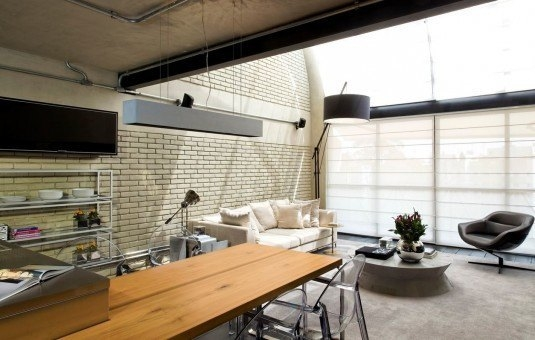 Open-space cu bucatarie si dinning