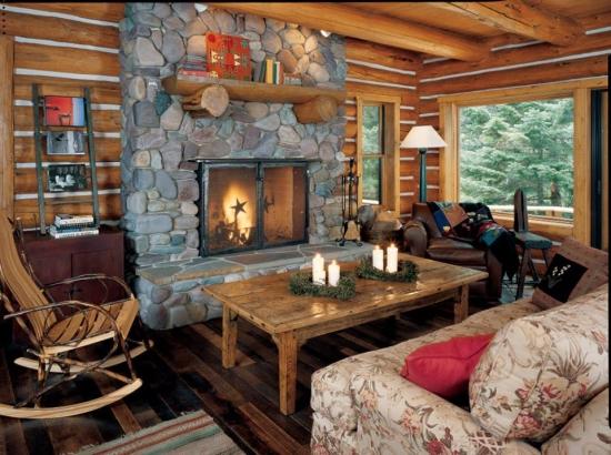 Canapea cu husa inflorata si balansoar din lemn