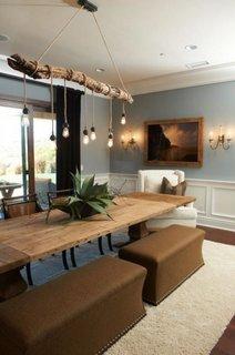 Combinatie de mobilier rustic si clasic