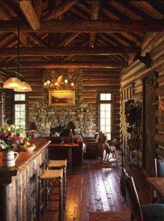 Interior de cabana de busteni