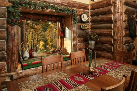 Interior traditional rustic