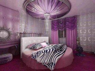 Pat rotund pentru dormitor
