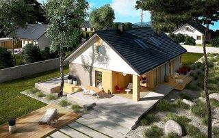 Plan casa cu parter si etaj mansardat