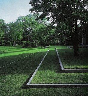 Parcele de gazon geometrizate
