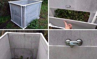 Lada de compost cu cadru din tevi PVC
