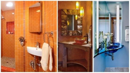Modele de lavoare si chiuvete pentru baie montate pe colt