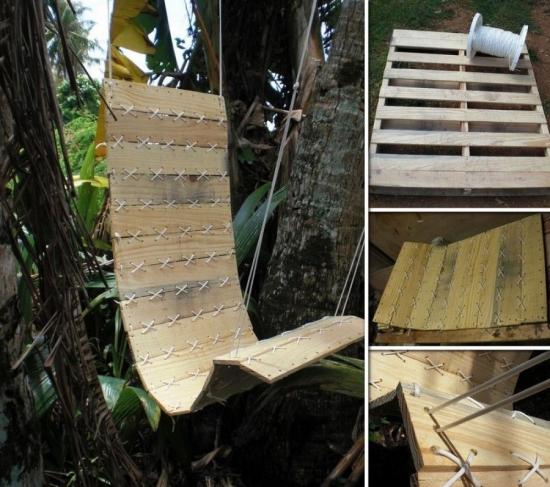 Fotoliu de lemn pentru gradina handmade