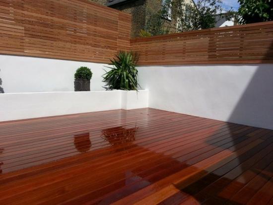 Deck terasa din lemn compozit culoare cires