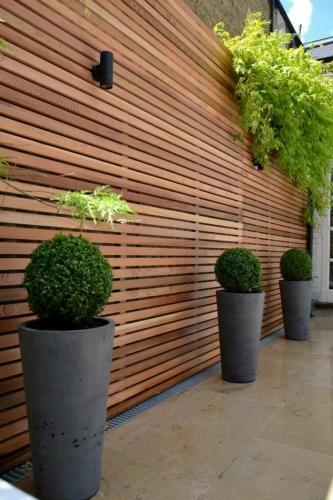 Gard de gradina din material reciclabil lemn plastifiat