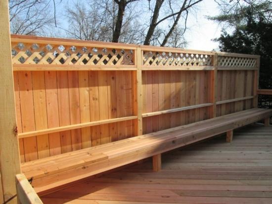 Gard si dusumea din lemn culoarea naturala