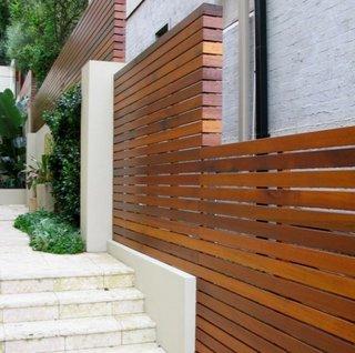 Idee de model de gard din lemn compozit