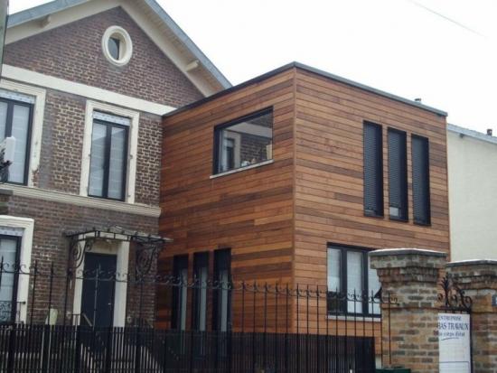 Placare exterioara cu lemn compzit reciclat