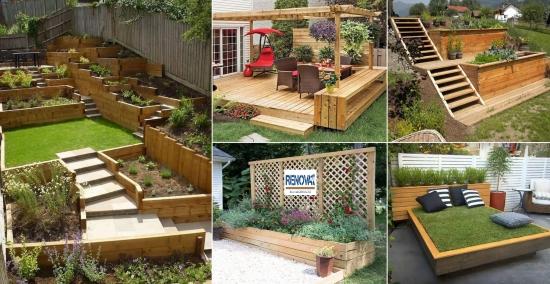 Iata cum poti folosi lemnul ca sa iti faci gradina mai frumoasa - 30 de idei geniale