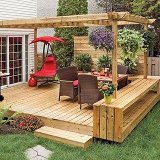 Design terasa din lemn