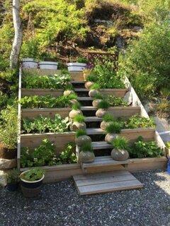 Idee amenajare gradina cu lemn