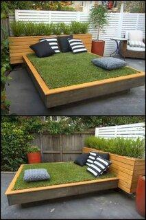 Idee geniala pentru decorare gradina pat cu gazon