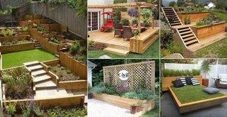 Idei de a folosi lemnul pentru decorarea gradinii