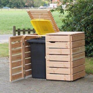 Masca din lemn pentru pubelele de gunoi
