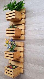 Model suport din lemn pentru flori