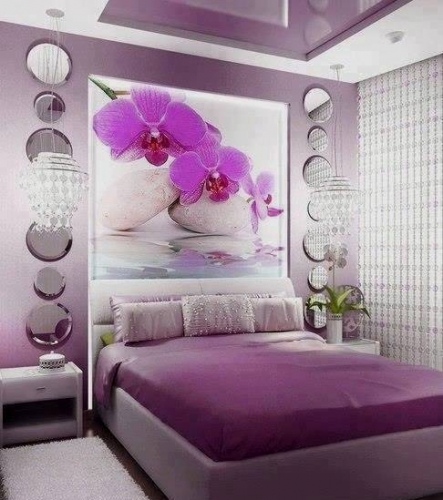 Set lenjerie pat culoare violet