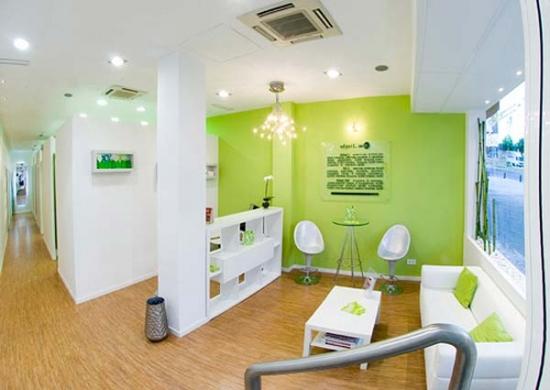 Design living modern verde alb