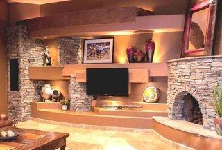 Elemente decorative piatra pentru living