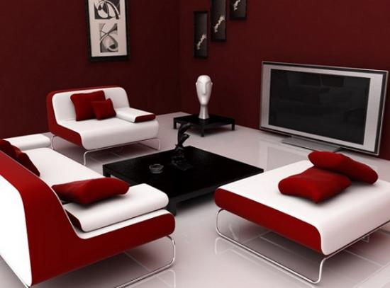 Mobilier minimalist modern pentru living