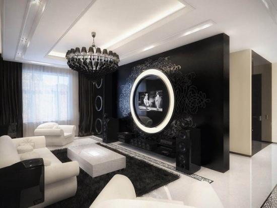 Candelabru negru pentru living modern