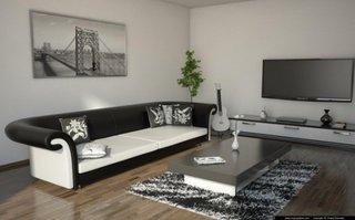 Comoda TV alba cu blat negru