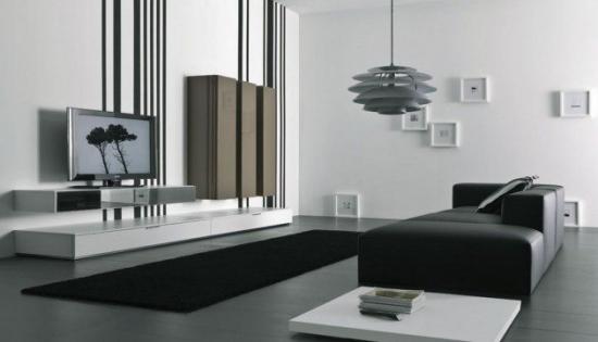 Idee sufragerie alb negru