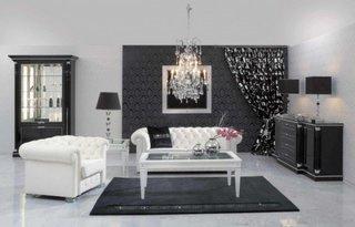 Mobila clasica living culoare neagra