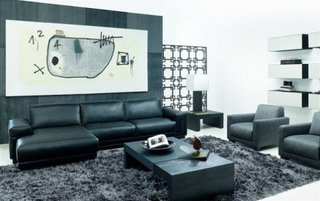Mobila neagra living contemporan