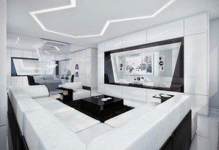 Mobilier modern alb lucios sufragerie