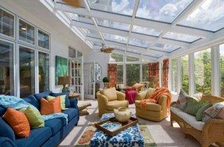 Camera de relaxare cu pereti si acoperis din sticla