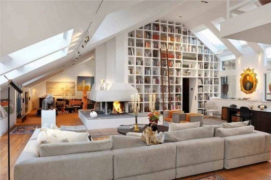 Idei pentru integrarea unei biblioteci in living
