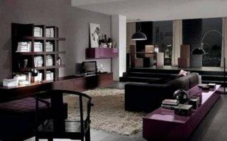 Living in stil italian cu mobila inchisa