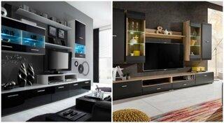 Mobila neagra pentru livinguri moderne
