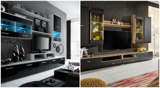 Livinguri cu mobila neagra elegante si stilate
