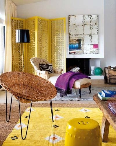 Living cu design galben
