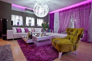 Living violet cu auriu