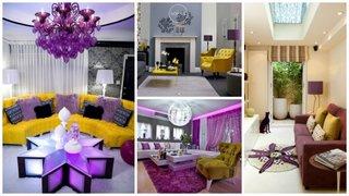 Livinguri cu design galben violet