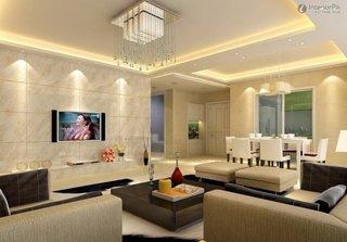 Idee decor modern living open space cu scafa iluminata
