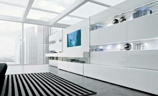 Mobila de living in stil minimalist