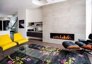 Scaune galbene moderne pentru sufragerie
