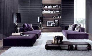 Canapele pentru living culoare mov inchis